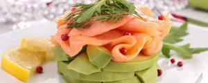 Aguacate con pescado ahumador - Avocado met gerookte vis