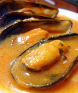 Mejillones cocido al horno - Gebakken mosselen