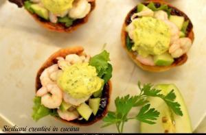 Gambas y Mayonesa Verde - Garnalen met groene mayonaise