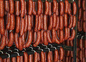 Chorizo con pimentos e pan - Chorizo met pimentos en brood