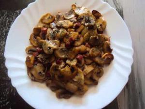 Champinones con Chorizo - Champignons met chorizo
