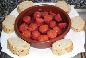 Chorizo al vino blanco - Gemarineerde chorizo