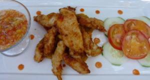 Churros de maïs con pollo - Gepaneerde kipreepjes