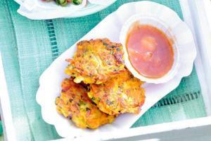 Patatas con serrano - Aardappelkoekjes met serrano