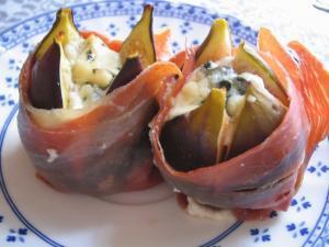 Higos con queso y serrano - Gegrilde vijgen in serranoham