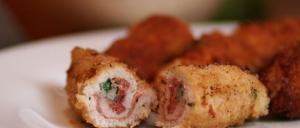 Flamenquin Cordobes - Varkensvleesrolletje met ham en knoflook