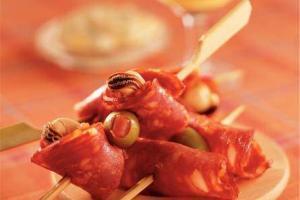 Pinchos de Mejillones y Chorizo - Mossel Chorizospiesjes