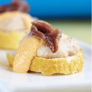 Allegría de Aloña - Toast met paté en ansjovis