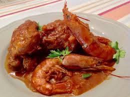 Pollo con gambas - Kip met garnalen