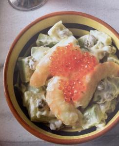 Ensalada de Aguacates y Gambas - Salade van avocado en garnalen