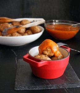 Albóndigas de Pollo con Salsa Barbacoa