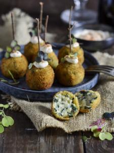 Croquetas de Hummus y Espinacas - Kroketjes met hummus en spinazie