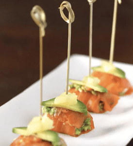 Salmón ahumado con Aguacate - Gerookte zalm met avocado