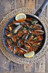 Mejillones Españoles Con Pimiento Y Tomate - Spaanse Mosselen Met Paprika & Tomaten