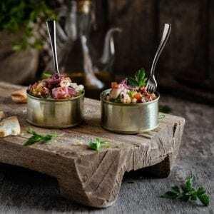 Pulpo y Langostinos con Vinagreta - Salade van Octopus en Garnalen