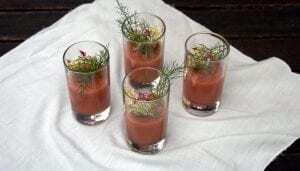 Sopa de Tomate y Melocotones - Soepje van Tomaat en Perzik - Soepje van Tomaat en Perzik