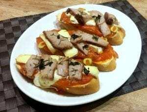 Tostas de Atún Rojo - Toast met Blauwvin Tonijn
