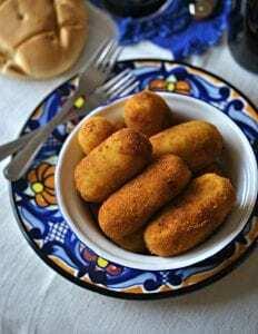 Croquetas de Patata rellenas y Morcilla - Aardappelkroketjes gevuld met Morcilla