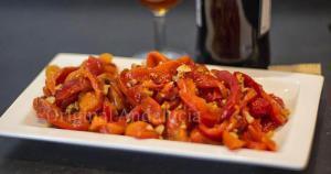 Ensalada de Pimientos con Miel y Almendras - Paprika salade met honing en amandelen