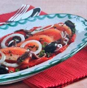 Ensalada de pimientos y tomate