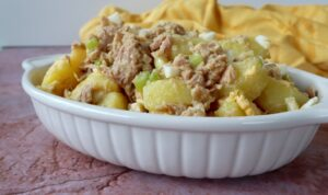 Patatas aliñadas - Aardappelsalade met tonijn en ei