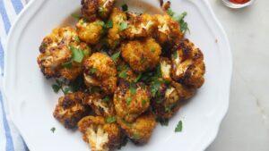 Coliflor al ajo y pimenton - Bloemkool met knoflook en paprika
